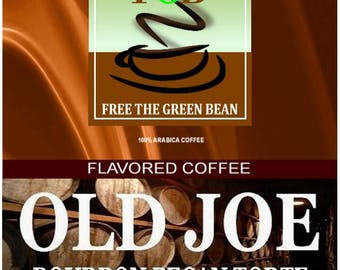 Whole bean fresh roasted OLD JOE Bourbon Pecan Torte flavored coffee, sprinkled in a Kentucky bourbon sauce. 2oz Sampler