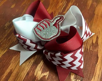 Aggie inspired bow