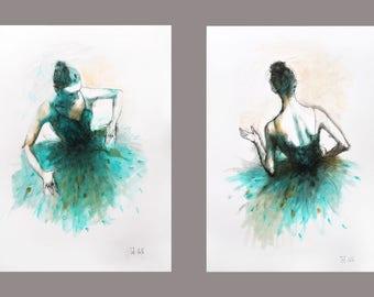 Ballerina Wall Art ballerina painting | etsy