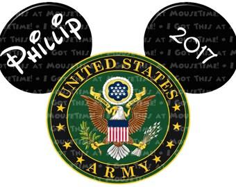 IRON-ON US Army Logo Ears! - Mouse Ears Tshirt Transfer