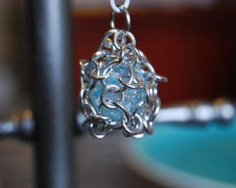 Caged marble pendant