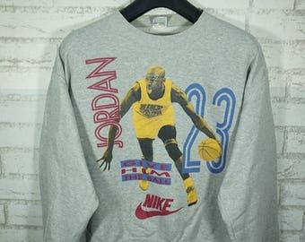 Vintage 90's Nike Air Jordan Sweatshirt Size Large L / Nike Sweater / Jordan Sweater / Nike Sweatshirt / jordan Sweatshirt