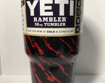 Red Splash 30oz Yeti Rambler