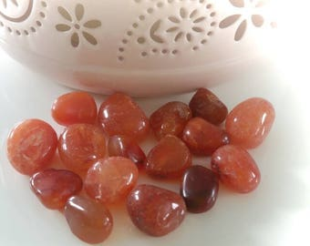 Rolled for Crystal healing carnelian stone