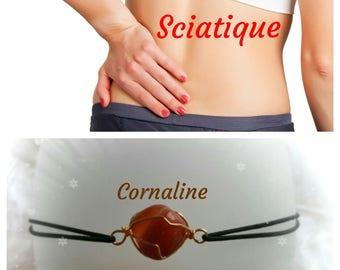 Bracelet for sciatica pain: carnelian