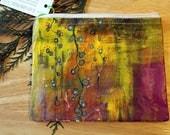 08 HANGING GARDEN- large reclaimed canvas zipper pouch
