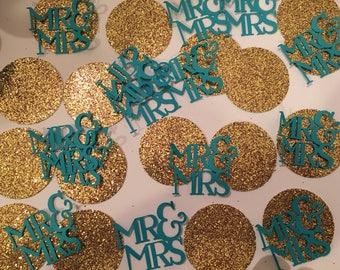 Mr.& Mrs. confetti