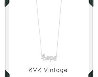 "16"" CZ ""hope"" Necklace"