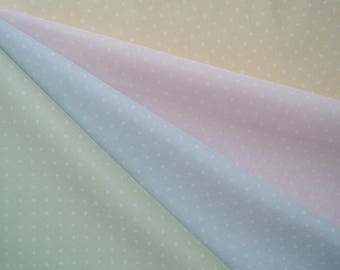 Bundle of 1/8 Lecien Antique Flower in Pastel Dots in 4 Colorways. Made in Japan