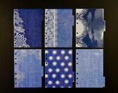 "Laminated dividers - A6 - ""Blue denim"""