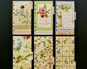 """Laminated dividers - Personal size  - """"The whole world is a garden"""""""