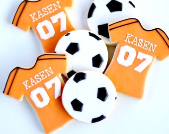 Half Dz. Soccer Cookie Set! Keep Calm and Kick On!