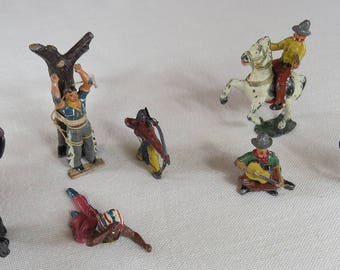 Lead Cowboys, Indians and Pioneers, Timpo Toys.