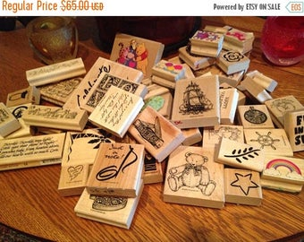 Huge Lot of Rubber Stamps