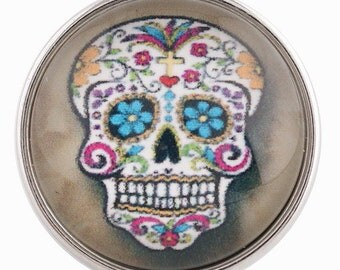 C0119  Art Glass Print Chunk - Day of the Dead