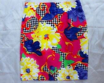 Vintage instant skirt by Gianni VERSACE flowers