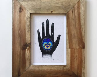 Pansy Hands 5x7 Print