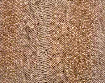 1970s Vinyl Leather Snakeskin Fabric