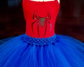 Spider girl costume/spider woman costume/spider woman/spider girl/spider girl outfit/spider woman birthday/ spider man costume/spider party