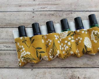 Cotton Blossom Essential Oil Rollerball Case - essential oil travel bag - essential oil storage - essential oil carrier - roller bottle case