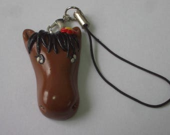 POLYMER CLAY HORSE BAG CHARM