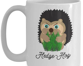 Hedge-Hog, Funny Hedgehog Pun Mug