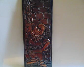 Autumn Copper, Copper Flower, Wall Art, Vintage Copper Art, Vintage Copper Repousse, Copper Art
