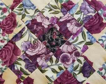 PURPLE TABLE RUNNER Quilted