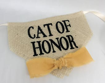 Cat Accessories Bandana Cat of Honor Wedding Collar Boy Gold Bowtie One Size Photo Prop Engagement Save the Date