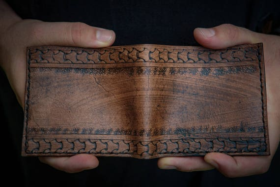 Viking Leather Wallet - Leather Bifold Wallet