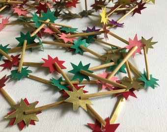 Festive straw paper garland decoration party vintage