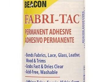 Beacon Fabri-tac Permanent Adhesive, 8 Ounce The Glue Gun IN A Bottle !