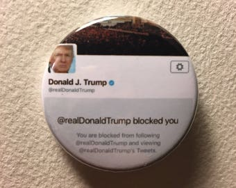 Blocked By Trump button