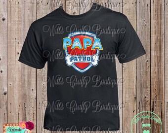 Papa Patrol Paw Patrol T-shirt