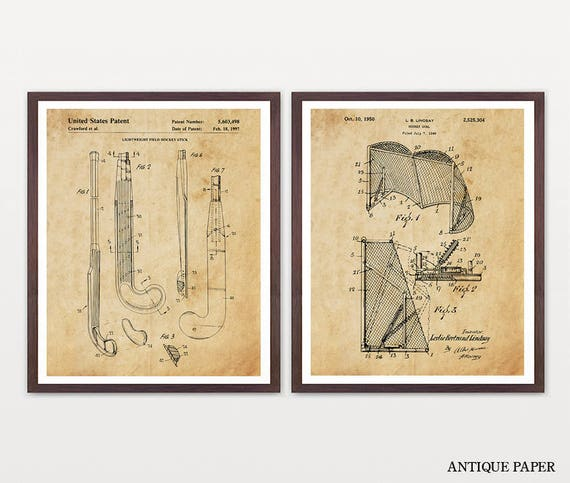 Field Hockey Patent Art - Field Hockey Poster - Field Hockey Decor - Field Hockey Art - Field Hockey Wall Art - Field Hockey Stick - Sports