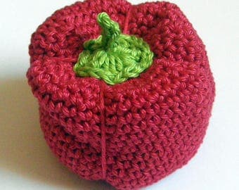 red pepper - toy - crochet - tea party