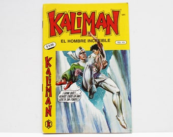 Kaliman El Hombre Increible No 49 Los Misterios de la Muralla China Revista en Español Spanish Comic RARE