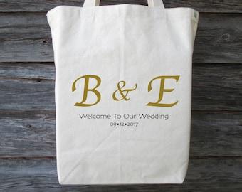 Wedding Welcome Bag, Wedding Guest Bag, Wedding Tote Bag, Wedding Guest Gift, Wedding Gift, Wedding Initials, Wedding Hotel Bag, Wedding Bag