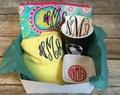 Monogram Surprise Box, Surprise Monogram Box, Monogram Mystery Box, Personalized Gift Box