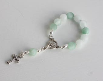 1 Decade Gemstone Knotted Rosary