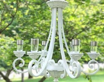 Outdoor Chandelier, Wedding Chandelier, Solar Powered, Garden Chandelier,  Solar Lights, Solar