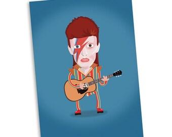 David Bowie Ziggy Card