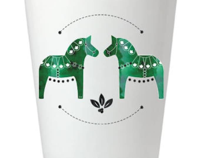Green Dala Horse Shot Glass