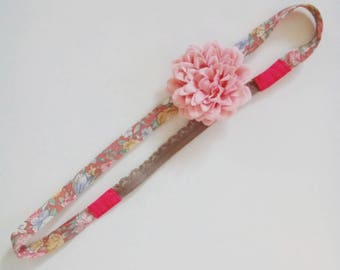 """Head band Liberty and flower """"Lina"""""""