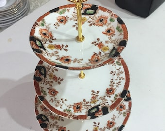 3 tier vintage cake stand wedding / Mother's Day / christening / party / anniversery
