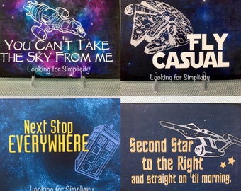 Fandom Starship (inspied by Firefly/Serenity, Dr. Who, Star Wars and Star Trek) Canvas Sign