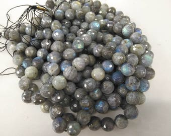high quality 4\6\8\10\12\14\16mm Genuine Blue Labradorite Beads Faceted Round Labradorite Beads Gemstone Beads Full strand 16inch