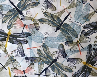 Fabric - Lady McElroy - Layered dragonfly - 100% cotton lawn - woven fabric