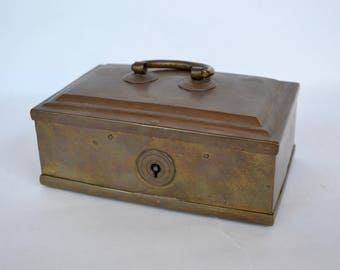 Vintage Solid Brass Box from India