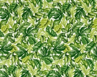 Timeless Treasures Fabric Collections - Oasis Tropical Leaves Green | PRE-ORDER Fabric | Quilting, Sewing, Apparel, Home Decor Supplies